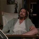 Jeff Bridges as the Big Lebowski
